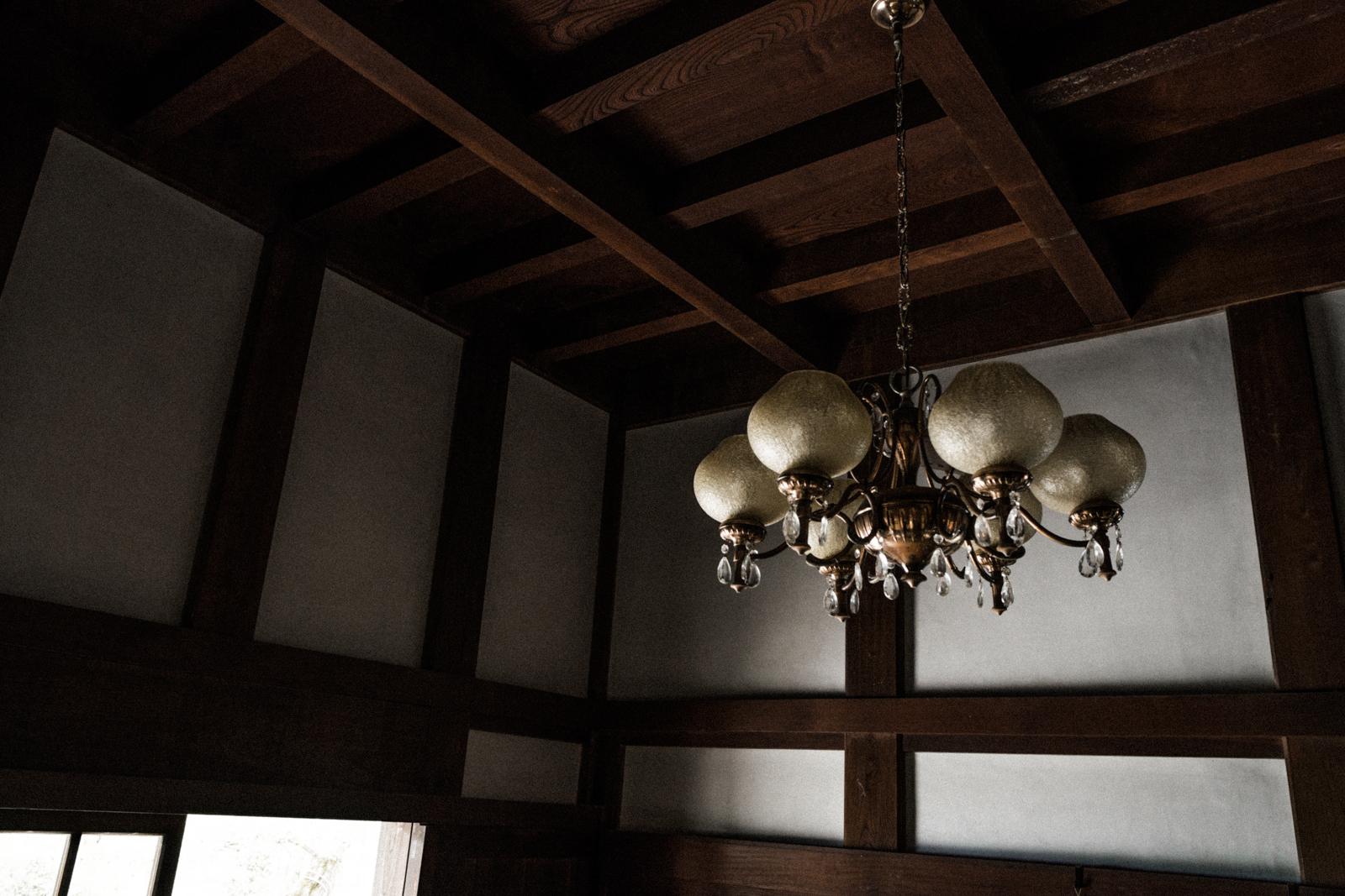 民家の古い照明の写真