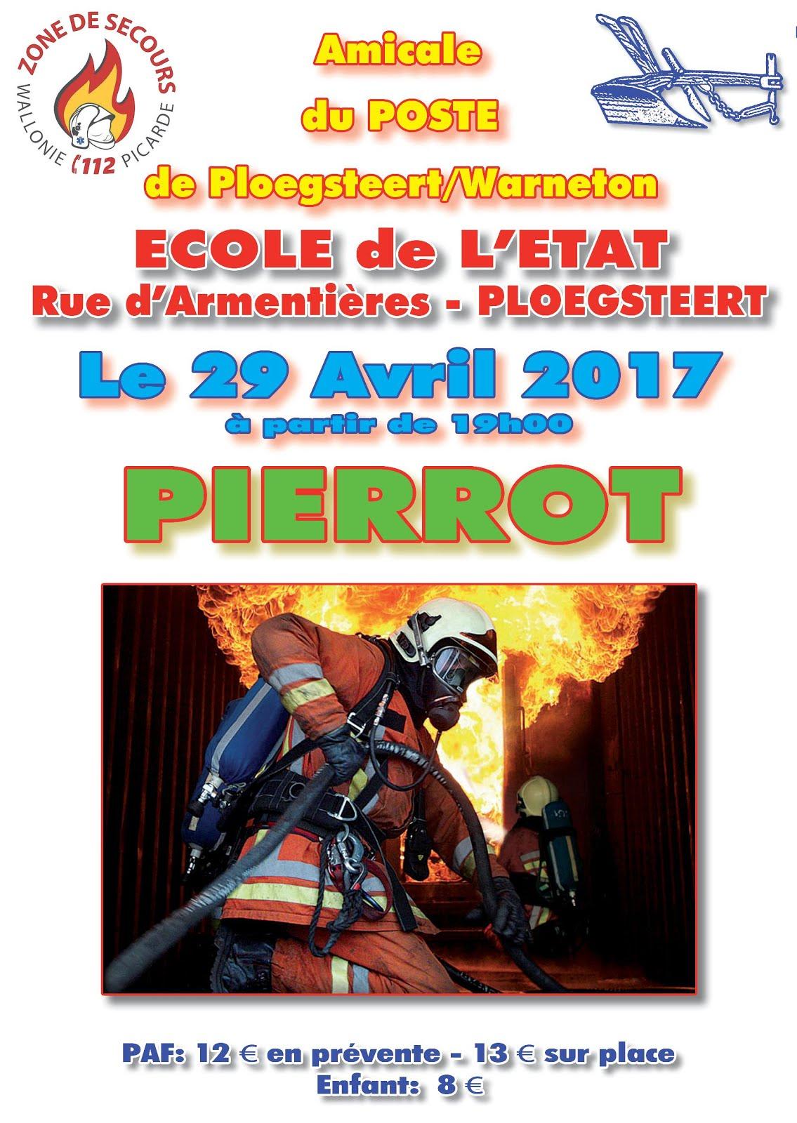 29 avril pierrot des Pompiers PLOEGSTEERT