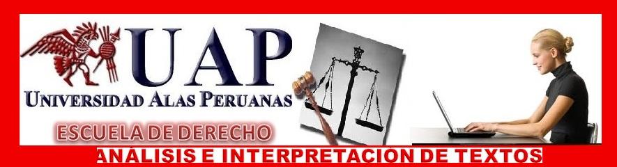 ANÁLISIS E INTERPRETACIÓN DE TEXTOS