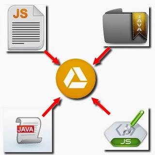como hospedar javascript no google drive