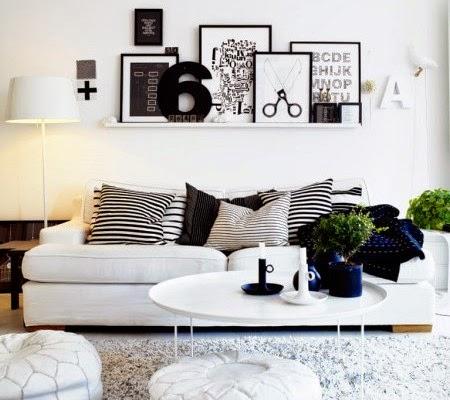 tema hitam putih dalam desain ruang keluraga   rumah