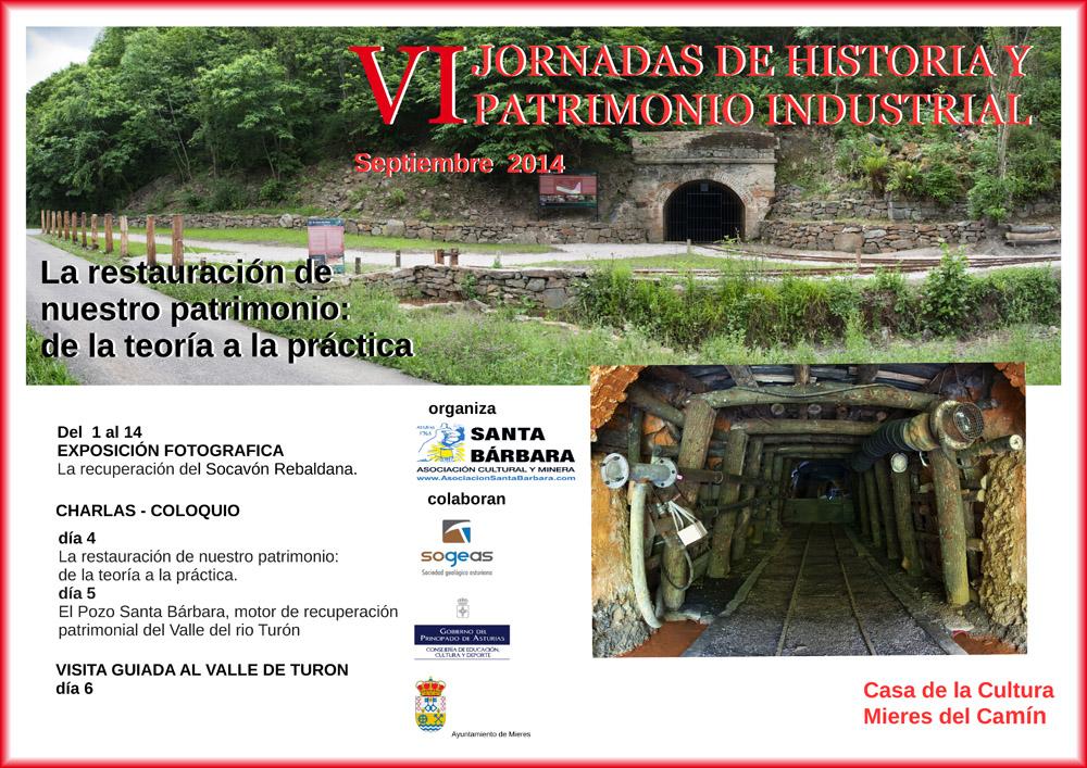 Cartel de las VI Jornadas de Historia y Patrimonio Industrial en Mieres