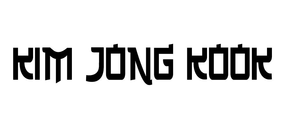 running man nametag fonts