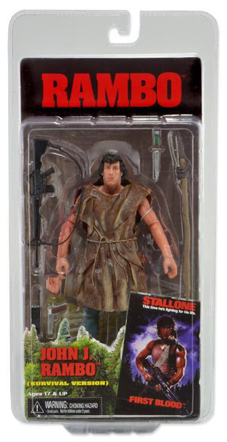 NECA Rambo Series 2 John J Rambo Survival Edition Figure