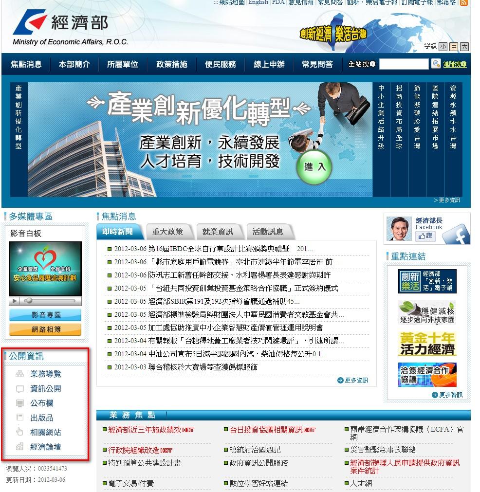 經濟部網站