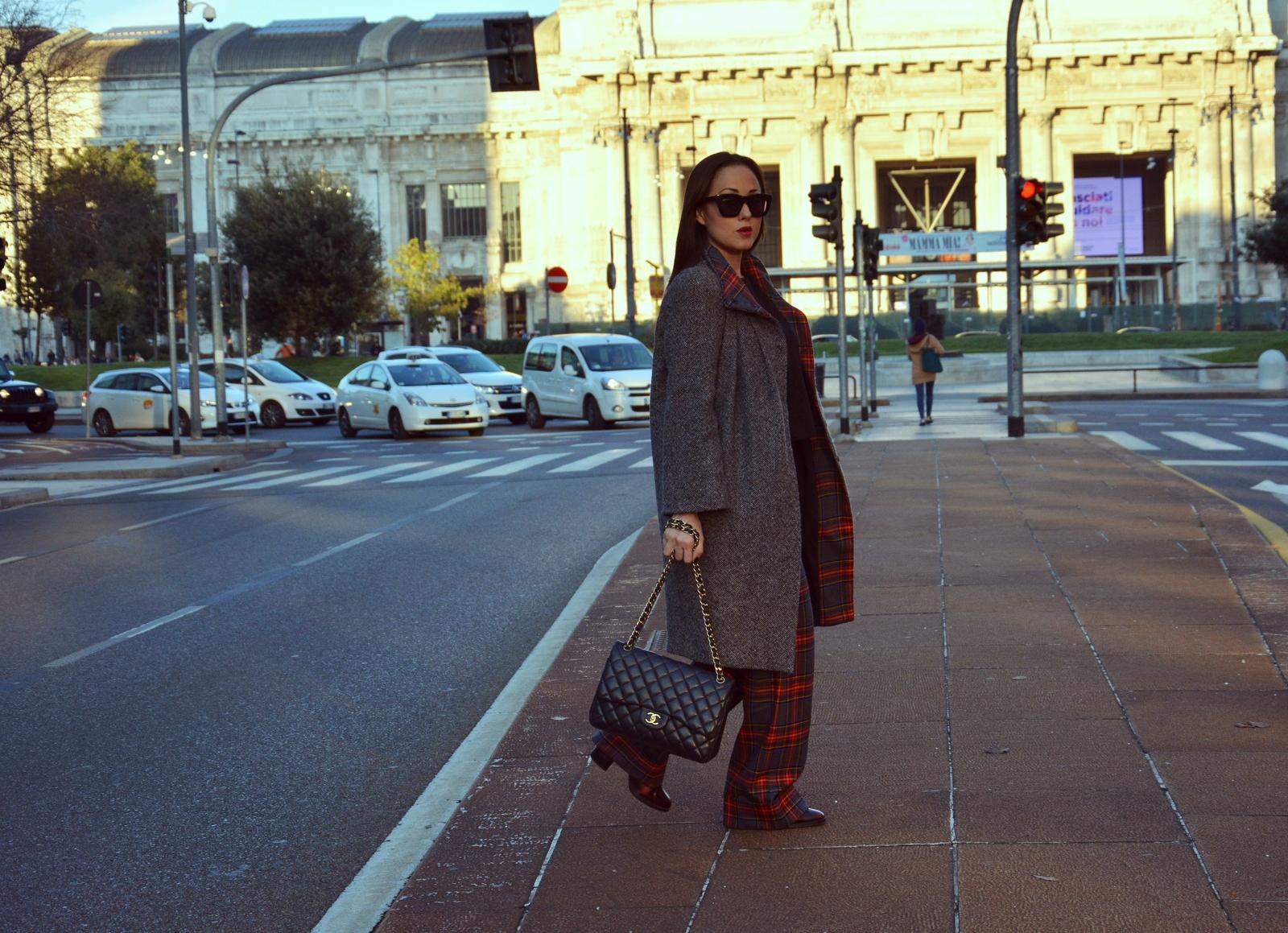 Tartan , Ultrachic Milano , Jessica Neumann , Street Style