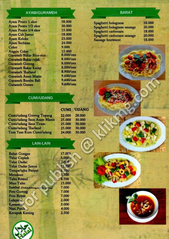 Menu : Tempat Makan / Restoran Taman SILIWANGI - siliwangiresto.ga | Restoran Keluarga dengan Harga Terjangkau dan Menu Kuliner yang Lezat