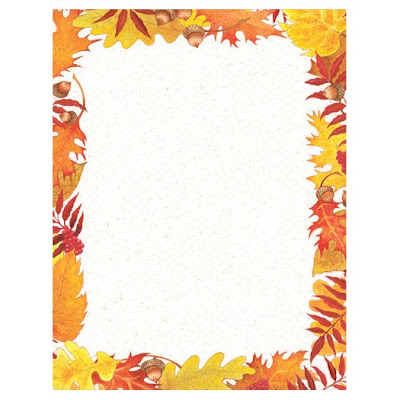 Fall Foliage Autumn Thanksgiving Printer Paper
