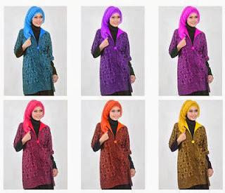 model pakaian batik hijab