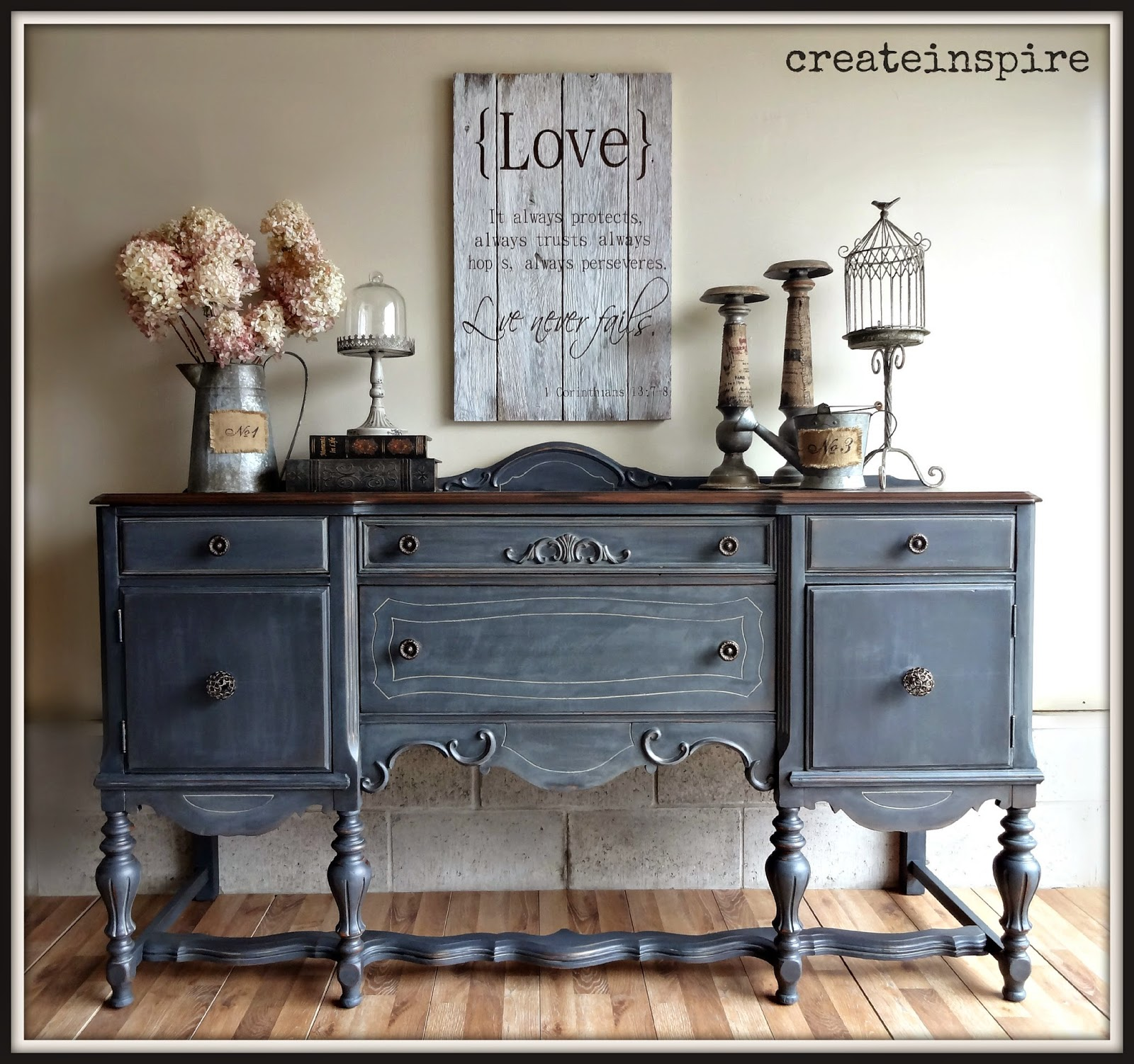 createinspire antique buffet in ash fusion mineral paint. Black Bedroom Furniture Sets. Home Design Ideas