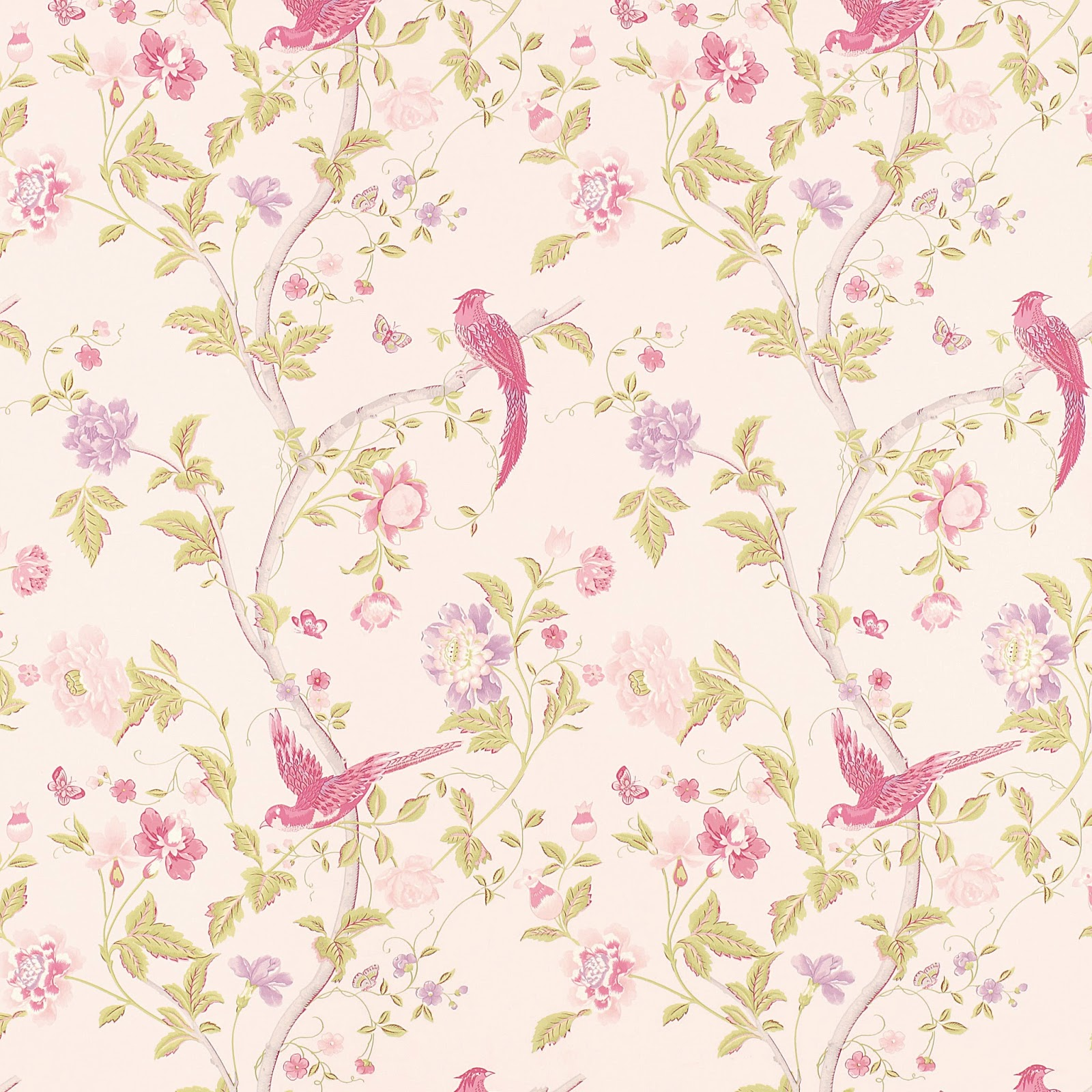 Vintage Floral Print High Quality Wallpaper 1600 X