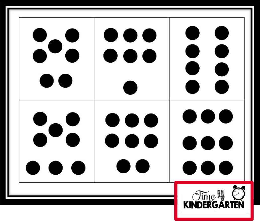 Below is a concentration game my students played matching the dot ...