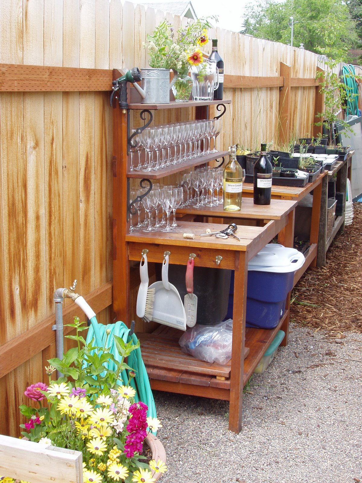 Potting Table Montana Wildlife Gardener Repurposed Potting Bench Garden