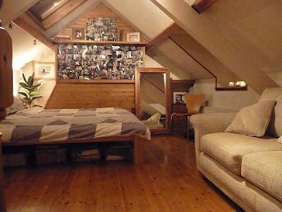 diseño de dormitorio en ático
