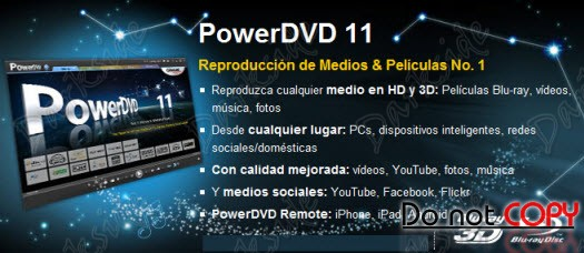 CyberLink PowerDVD Ultra v11.0.2408.53 Ultra (Multi/Español - Full)