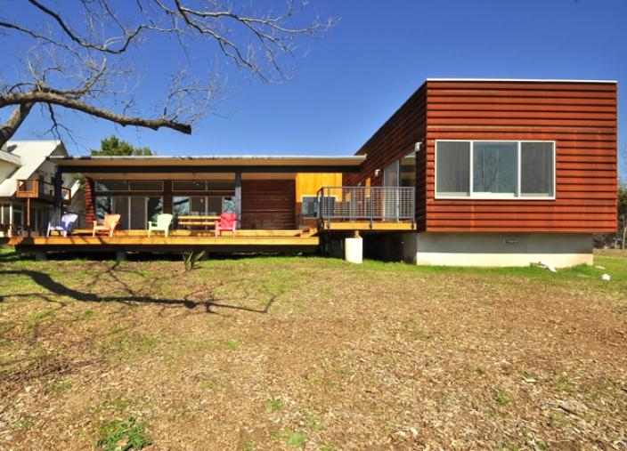 Custom Prefab Modular House With Patinated Metal Facade