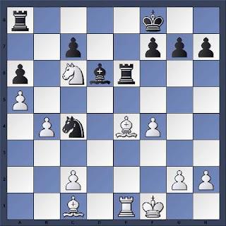 Echecs à Bienne : Position après 25...Te6??