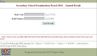 www.biharboard.net BSEB 10th Results 2012
