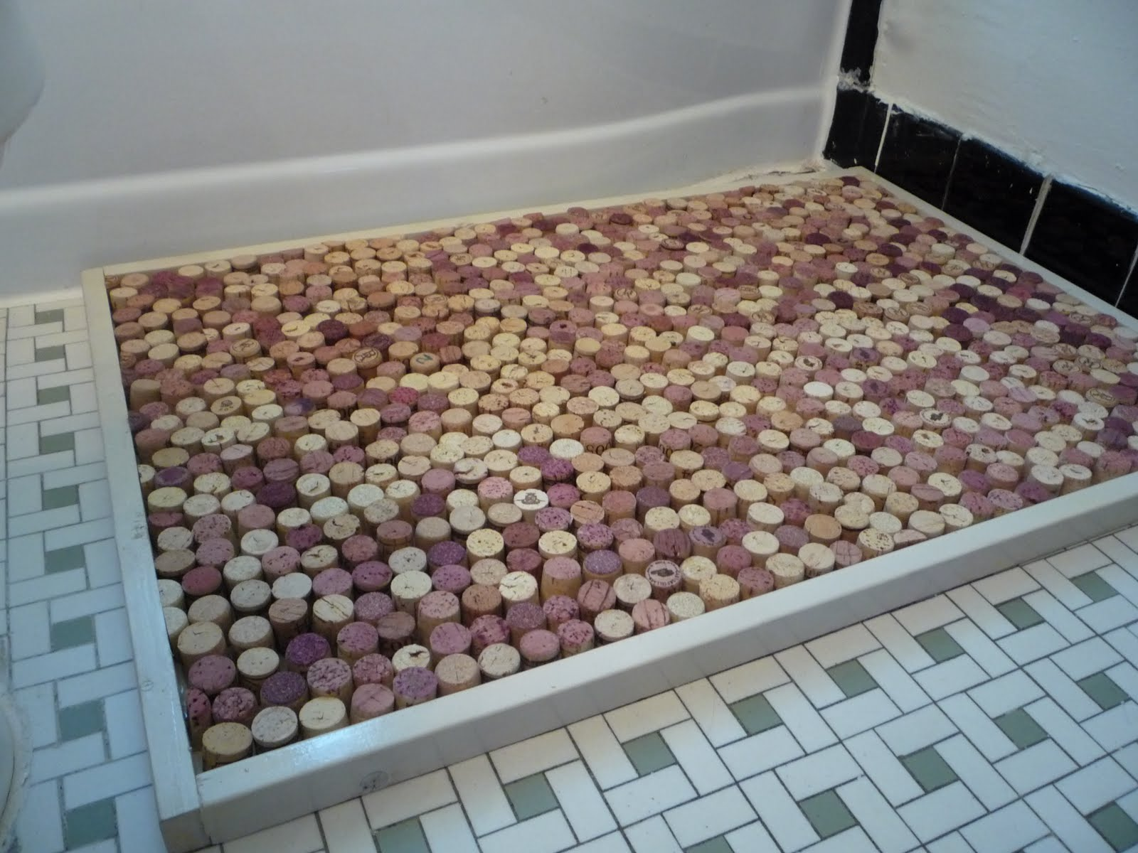 Very large bath rugs search - Dustin White Wine Cork Bath Mat
