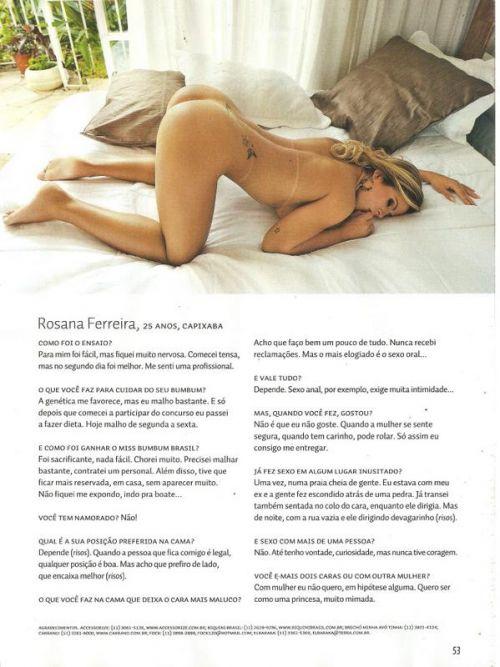 Rosana Ferreira Revista Sexy