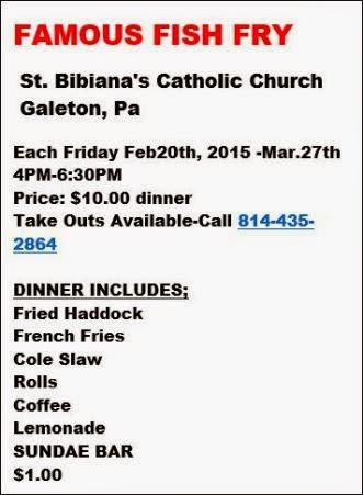 2-27 Thru 3-27 Fish Fry St. Bibiana's