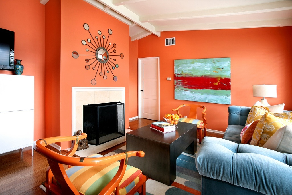 I Found This Gorgeous Cozy Orange Living Room Design By Natalie Umbert, I  Had To Share It. Part 84