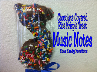 Chocolate Covered Rice Krispie Treat Music Note