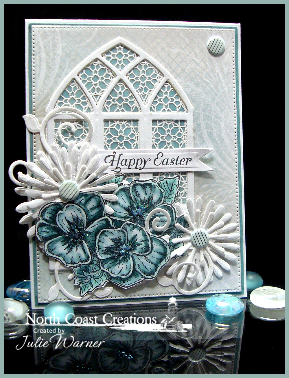 Stamps - North Coast Creations Pansies, ODBD Custom Flourished Star Pattern Die, ODBD Custom Cathedral Window Die, ODBD Cusotm Asters and Leaves Dies, ODBD Custom Fancy Foliage Die, ODBD Cathedral Window Marble, ODBD Shabby Rose Paper Collection