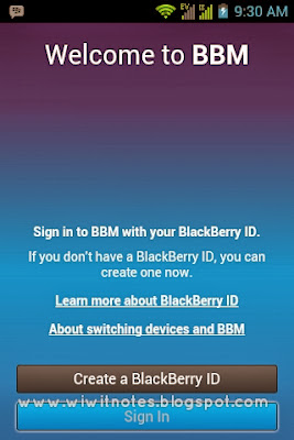 Welcome BBM Android