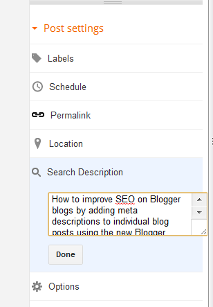 how to add meta keywords in blogger