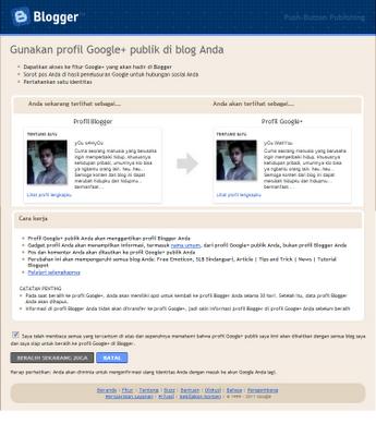 Mengganti Profil Blogger dengan Google+
