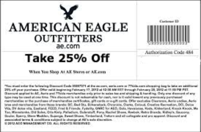 American eagle discount coupons in store