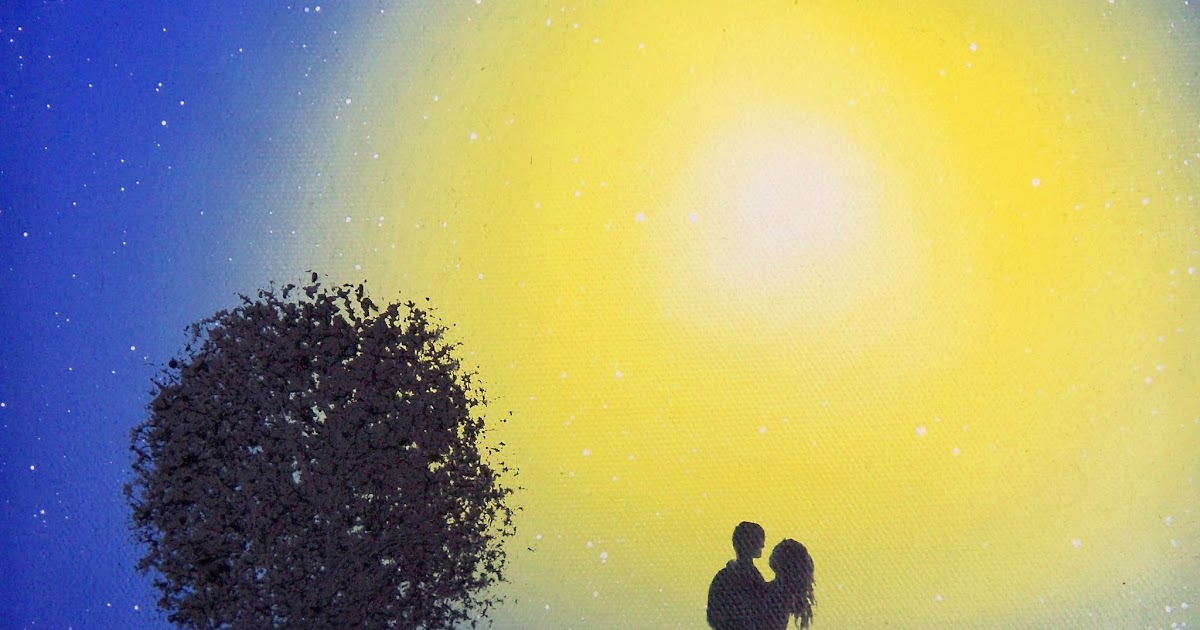 Bing Art by Rachel Bingaman: Blue Night Sky, Silhouette Couple ...: http://bingartbyrachelbingaman.blogspot.com/2014/01/blue-night-sky-silhouette-couple.html