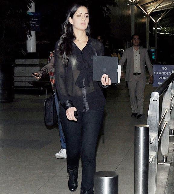Katrina Kaif Mumbai Airpot