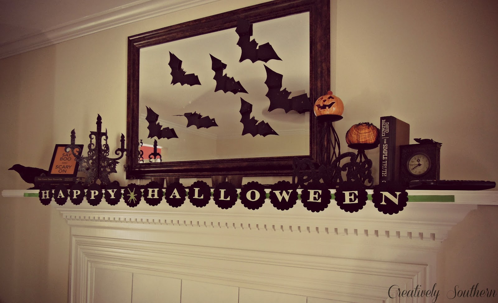 halloween mantel decor - Halloween Mantel Decor