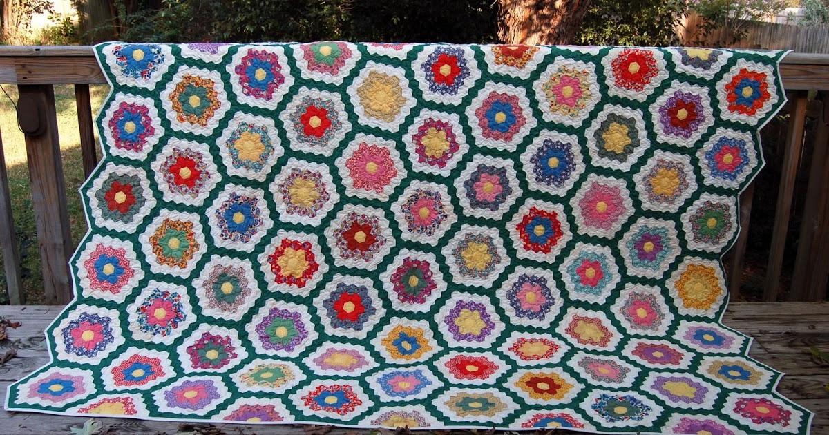 The Arkansas Man Quilter Grandmother 39 S Flower Garden Quilt