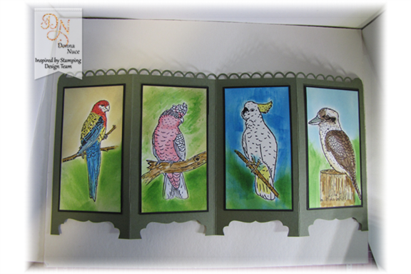 Inspired by Stamping, Crafty Colonel, Australian Birds, 3D project