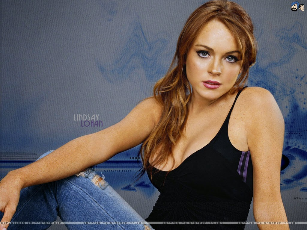 all beauty: lindsay lohan showing her boobs