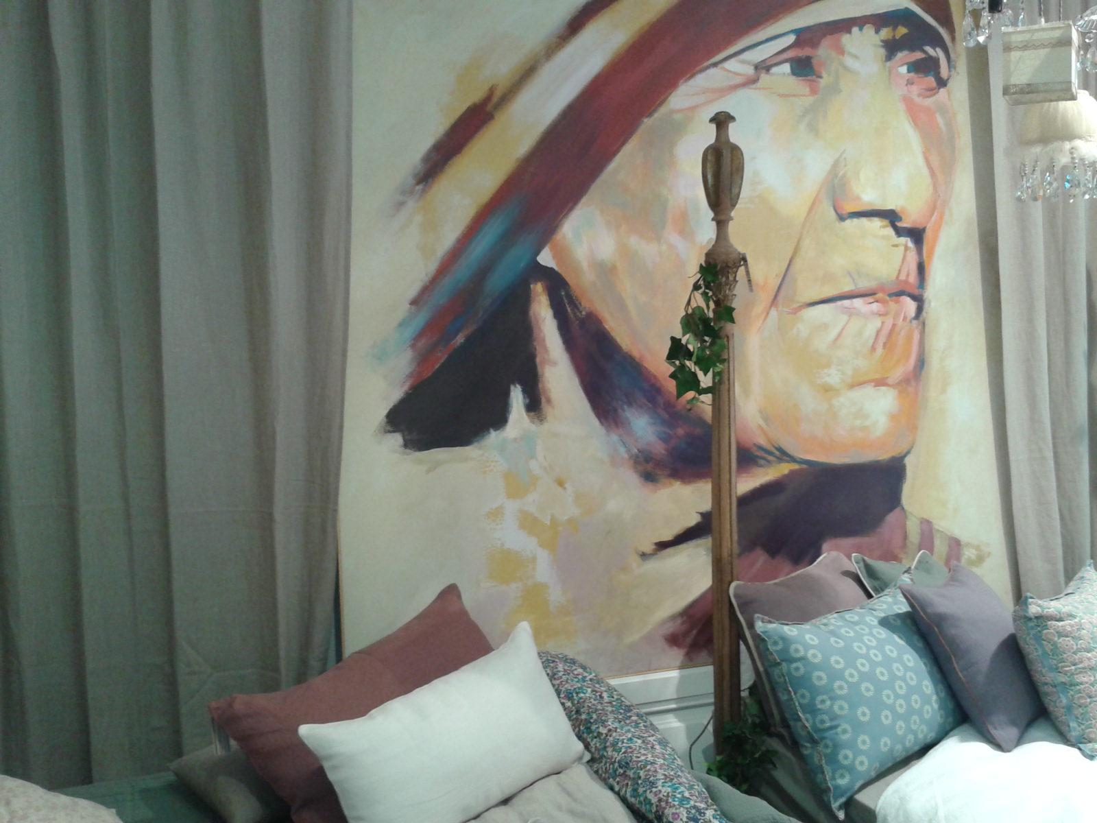 Ropa de Cama y una Exposición de retratos en Filocolore
