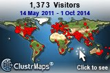 Visitor Map (Upto 2014)