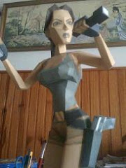 Papercraft Lara Croft IV