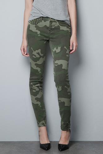 pantalon armée femme zara