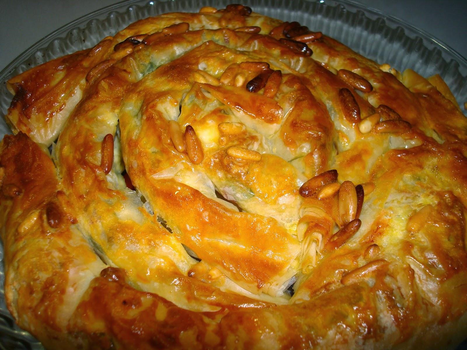 pasta filo queso feta pastel