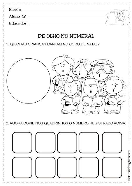 Atividade Matemática Educação Infantil/  Temática Natal