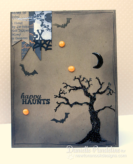 Happy Haunts Halloween Tree card by Danielle Pandeline for Newton's Nook Designs | Spooky Street Stamp Set