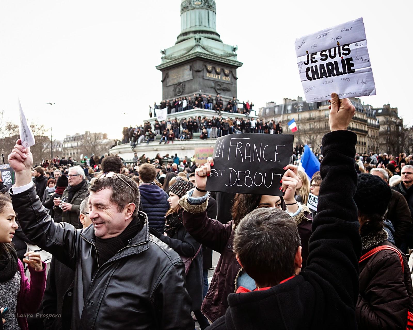 Place de la Bastille -  Marche Républicaine 11/01/15 #paris #JeSuisCharlie