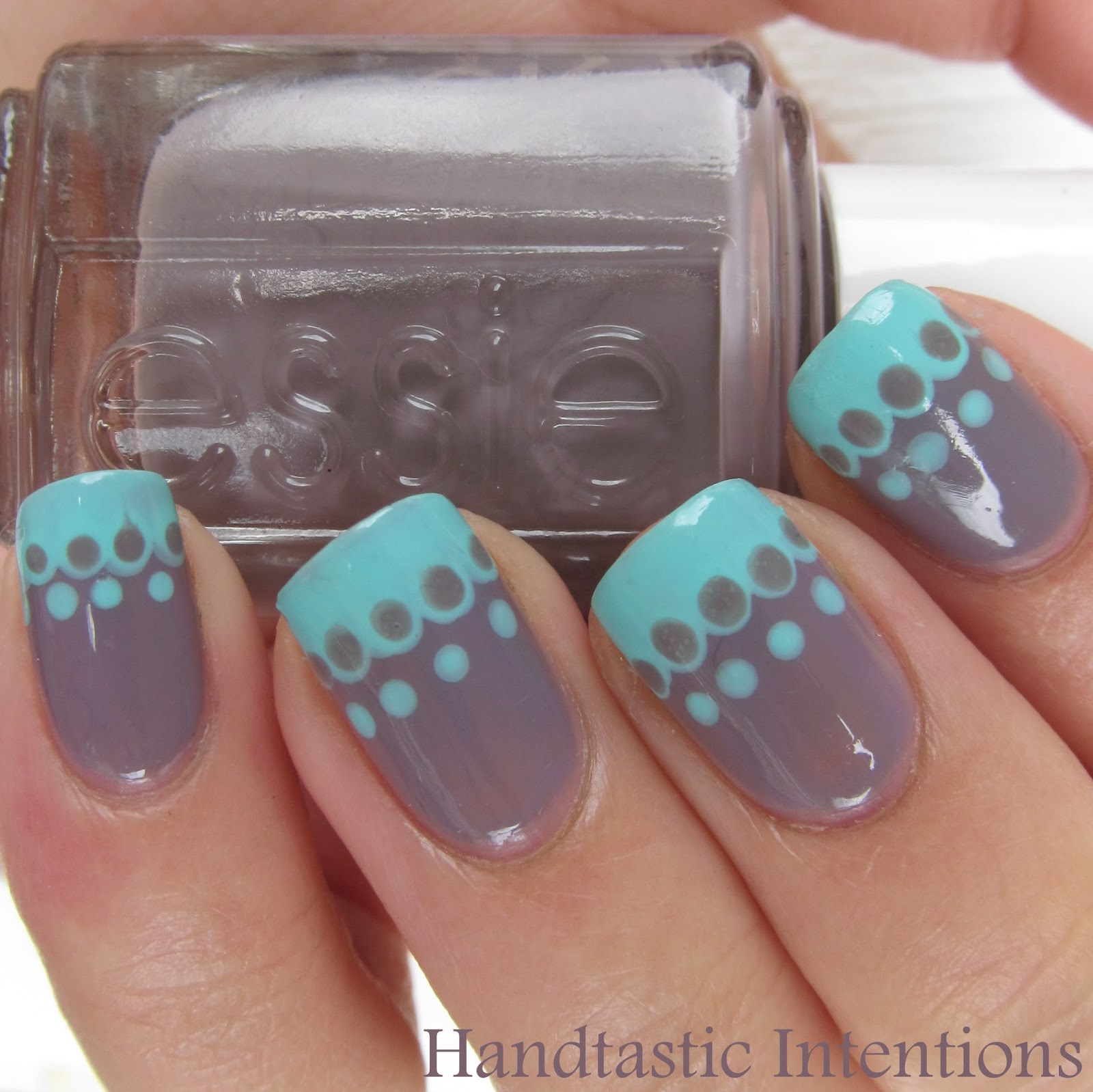 Handtastic Intentions Nail Art Simple Lace French Tip