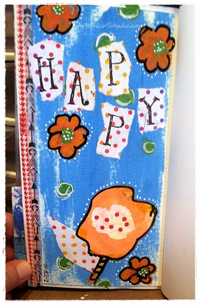 Happy Mail Art Journal Page
