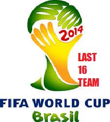 Jadual Perlawanan Piala Dunia 2014 Pusingan 16 Kalah Mati