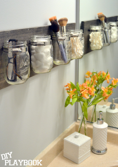Mason Jar Organizer - The DIY Playbook